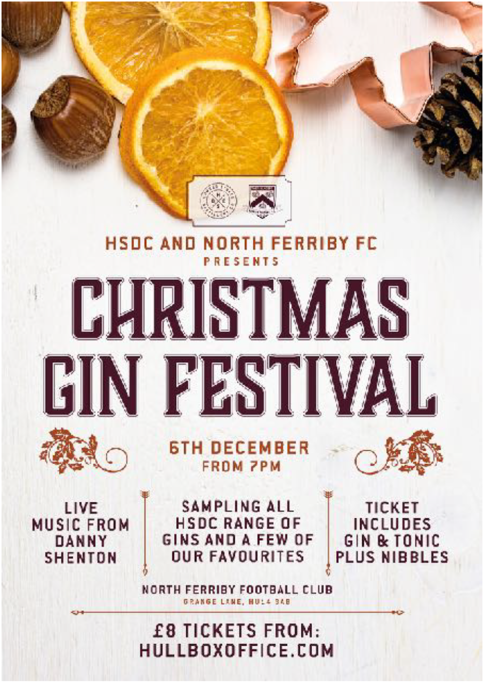 Don't miss our firstChristmas Gin Festival,this Friday 6th December at the Clubhouse from 7pm
