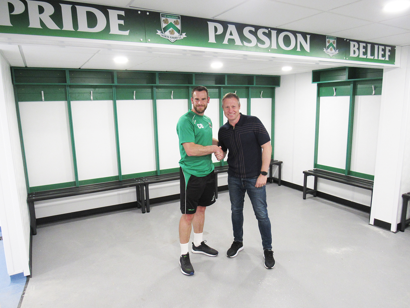 Nick Barmby opens new changing rooms facility